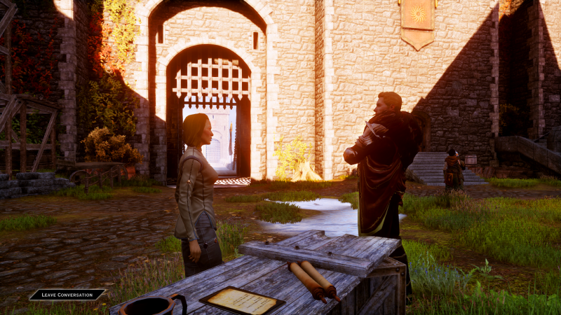 Courtyard Chat